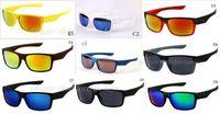 2018 новый мода мужская велосипед стекло Спорт на открытом воздухе два лица солнцезащитные очки Google очки смешивать цвета 10шт/много.