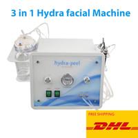 Neue 3 in 1 Hydro Dermabrasion Hydra Gesichtsmaschine Hautreinigung Wasser Sauerstoff Düsen Peeling Diamant Microdermabrasion Home Salon Ausrüstung