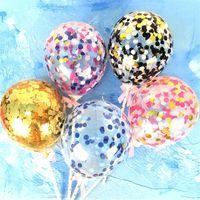 День святого Валентина любовь сердце воздушный шар блестки побрякушки торт шары праздник День рождения Поставки украшения Свадебный блестка Airballoon