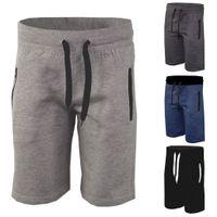 Novos homens planície velo basculadores shorts homens verão casuais soltos calções de fitness sweatpants masculino curto homme