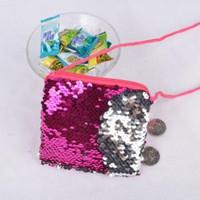 Mermaid Pailletten Geldbörsen mit Lanyard tragbare Mode Glitter Tasche Platz Zipper Wallet Kinder Mini Schultertasche Partei-Bevorzugung GGA1623
