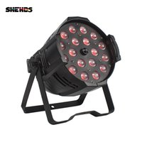 Shehds Effect Light LED Zoom Par 18x12W RGBW 4IN1 / 18x18W RGBWA + UV 6In1 RDM Función Control DMX Adecuado para Bar DJ Disco Theatre Wedding