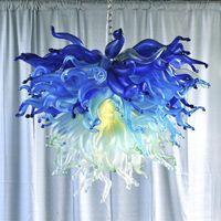 Artigianato di vetro Artigianato Grande scala Sculture in vetro BOWN Lampade in vetro soffiato e lanterne Glas s Ornamenti Artworks Glass S Lampadario a forma di Glas
