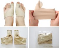 2pcs / pair estiramento Nylon Meias de hálux valgo Guarda Almofada Joanete Toe Separator Thumb Valgo Protector Pedicure Cisto Foot Care