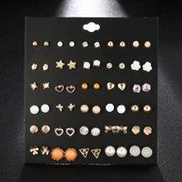 Vendita calda 30 stili dell'orecchio creativo perni del fiore di modo di cristallo della perla del Rhinestone dell'orecchio borchie nuovi orecchini di perle