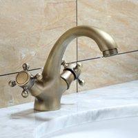Torneiras de banheira Torneira de banheiro Antique Bronze acabamento Bronze Frio / Misturador Basin Pia Acessórios Sólidos