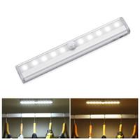 Tube LED sous la lumière du Cabinet PIR Motion Sensor Lamp 6/10 LED éclairage 98 / 190mm pour Armoire Armoire Placard Cuisine Veilleuse