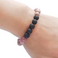 6 Stil Natursteinperlen-Stein-Charme-Diffuser Armband Volcanic Schmuck Armband Naturheil Crystal1
