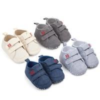 أحذية قماش جديد الطفل حذاء رياضة الرياضة للأحذية بنات بنين الوليد الطفل ووكر طفل الرضيع لينة أسفل المضادة للانزلاق الأولى حمالات