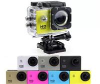 El más barato imitar A9 cámara de los deportes de la pantalla LCD de 2 pulgadas de la cámara 1080P HD 30M impermeable Acción Videocámaras deporte del casco DV VS 4k colorido