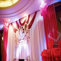 Nouveau 2020 mariage fond étape mariage ensemble 6mX3m rideau de mariage props décoration voile de fond de scène du parti