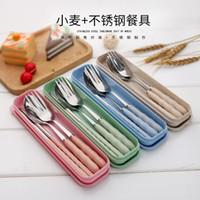 ステンレス鋼食器セットギフトピーナッツタイプ携帯用食器ファッション絶妙なディナーサービスフォークスプーン箸5 7xD JJ