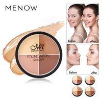 En stock! En gros maquillage moelleux crème de teint C14002 cosmétiques de couleur 4color anticernes crème fond de teint