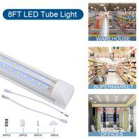 Tubi a LED a LED da 2ft 4ft 6ft 8ft a forma di V a forma di V 8ft T8 Tubi a LED integrati 72W 100W V-SHANPD LED Luci Lampada a LED in USA