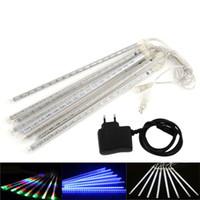 LED 유성 샤워 비 조명 크리스마스 빛 스노우 led 스트립 8pcs / 세트 30 50 cm 장식 빛 100-240V EU 미국 플러그