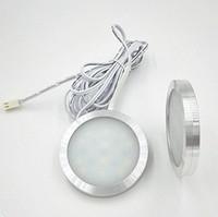 DC12V 3W LED-Spot-Licht 2835 Puck unter Schrank Kleiderschrank Schaufensterlampe mit 2 Metern Draht 3m Rückenkleber oder Schraubinstallation Küche Downlight
