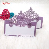 100pcs Laser Cut Wedding Invitations Baby Shower Pearlscent ...