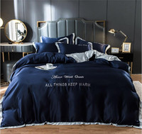 Summer Designer Bed Comforters Sets Luxury Bedding Set Satin Silk Duvet Bed Sheet Twin Single Queen King Size Bed Sets Bedclothes