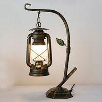 American Table Lamps Chinese Village Altmodische Petroleumlampe Kaffee Restaurant kreative Schmiedeeisen führte Licht Schlafzimmer Vanity-Schreibtisch-Licht