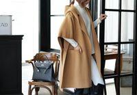 2020 المرأة الجديدة تصميم بالاضافة الى حجم الحجم الكبير 5XL مقنعين نصف كم الصوفية قصر معطف طويل المتوسطة المعطف عباءة الرأس casacos