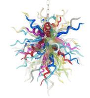 Christmas decorativo lâmpadas coloridas flor candelabro China mão feita sob encomenda soprado arte de vidro de vidro artesanato iluminação de pingente à venda