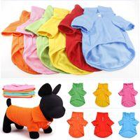 Nouveau Bonbons Couleur Chien Polo Shirt Printemps Été Coton À Manches Courtes Pet Vêtements Vêtements De Noël DHL XD21213