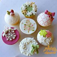Weihnachten Schneeflocken Baum Formen Sillicone Weihnachten-Kuchen-Zucker Moulds Schokoladen-Form Küchen-Backen-Werkzeug