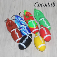 Football Silicone Hand Pipe Colored Glass Pipe Tobacco Smoki...