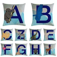 26 Letters Pillow Case Letters Flower Combination Word Engli...