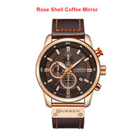CURREN Men Business Leather Watch Chronograph Wasserdichte Quarz-Armbanduhr