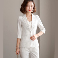 New summer Business stripes pants suits women formal formal ...