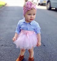 Printemps nouvelle chemise à rayures en coton frais filles + tailleur jupe rose
