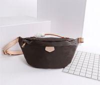 Fannypack мужчин дизайнер роскошного кошелька сумка поясные сумки старый цветочный узор пу кожаный высокого качество моды люди роскошь кошельки ремень сумка