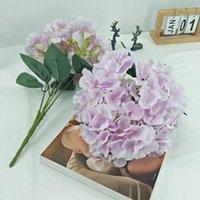 الجملة زينة الزفاف الاصطناعي الزهور باقة 5 رؤساء Hydrange للزينة الزفاف نوعية جيدة زهرة الحرير