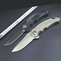 2020 multifunction scallop pocket folding knife titanium pla...