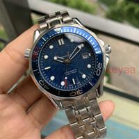 새로운 남성 기계 전문 제임스 본드 007 파란색 자동 운동 손목 시계 남성의 남성 디자이너 시계 패션 마스터 손목 시계