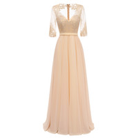 Half Sleeves Mother of the Bride Dresses Chiffon Elegant Lac...