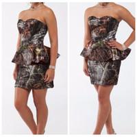 Schatz-Camouflage-Mutter der Braut kleidet kundenspezifische kurze Minitarnung-realer Baum-formale Mutter-Partei-Kleider plus Größe