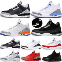 Nike Air Jordan Retro 3 Hava JUMPMAN 3 M Yansıtıcı Statik TINKER JSP Erkek Basketbol Ayakkabı SIYAH ÇİMENTO 33 s Knicks Rakipler Kızılötesi 23 Erkekler Sneakers 7-13