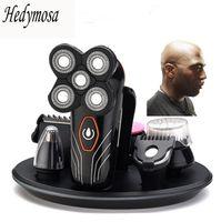 4D Rasoio elettrico di ricarica USB Mens rasoio da barba self-service impermeabile Haircut rasatura barba multifunzionale