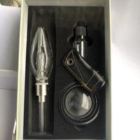 510 Mini de cristal claro de la pipa de agua pelele kit con 510 cuarzo Banger Consejos de titanio Agua de cristal Bongs Pipas