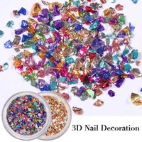 1 Box 3D Nail Decoration Hampagne Mixed Size Gravel Nail Dec...