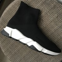 New Arrivals Men Women Black Sock Sneakers Ankle Boots, Desig...