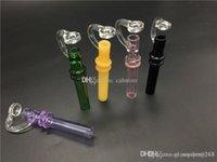 그릇 기억 만 파이프 흡연 유리 농축 물 감별사 오일 왁스 담배 미니에 도매 다채로운 Steamrollers 연구소 유리 손 물 파이프 유리