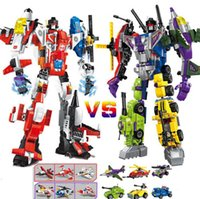 2018 New Building Blocks Combination Cars and Robots Sets Ch...