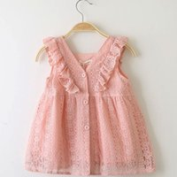Children' s Dress Summer Girl Princess Skirt Lace Lotus ...