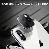 아이폰 (11) 프로 맥스 완벽한 크기의 유리 커버 아이폰 X XS 최대 시간 (초) 변경을위한 금속 알루미늄 카메라 렌즈 보호