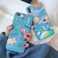 Cute Cartoon Dinosaur Cases For iPhone XS Max XR XS 6 6S 7 8...