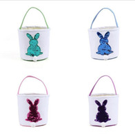 Easter Bunny Gift Bag Fashion Easter Basket Sequins Rabbit C...