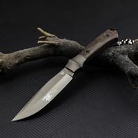 나비 고정 칼 440C 스틸 블레이드 야외 캠핑 도구 사냥 생존 린넨 핸들 전술 선물 직선 칼